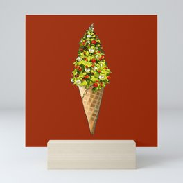 Christmas Tree Ice Cream Cone Mini Art Print