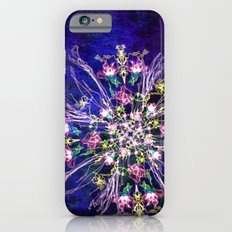 Abstract delicate silk flowers iPhone 6s Slim Case
