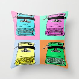 Let's warholize! Olivetti lettera22-style full of color Throw Pillow