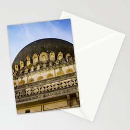 Looking up at One of the Mosques with the Sun Shining on It and Giving It a Golden Color at the Qutb Shahi Tombs in Hyderabad, India Stationery Cards