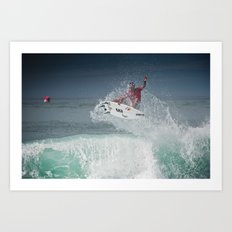 Pro Surfer Adriano De Souza Art Print