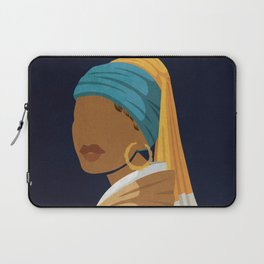 Girl With a Bamboo Earring Laptop Sleeve