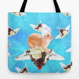 Chef Bunny Rabbit On Sundae In Space Tote Bag