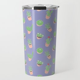 Cactus and Succulent Houseplant Pattern Travel Mug