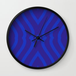 Bluesy Twist Wall Clock