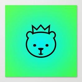 Berlin Bear. Mascot of Berlin Canvas Print