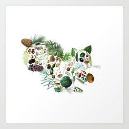 Botanical Squiirel Art Print