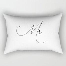 Just Married 'Duvet Queen's Mr and Mrs Designer Wedding gift Pillows Rectangular Pillow