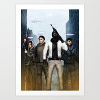 cryaotic Art Prints featuring Youtube Gamers by Meder Taab