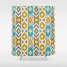 Wood Boho 8 Shower Curtain
