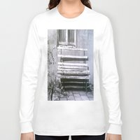 jewish Long Sleeve T-shirts featuring Many quiet moments to rest by Brown Eyed Lady