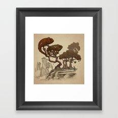 Autumn Chameleons  Framed Art Print