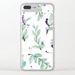 blazz studios: Spring Twigs Clear iPhone Case