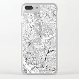 Washington D.C. White Map Clear iPhone Case