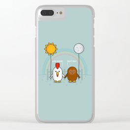 Early Bird & Night Owl Clear iPhone Case