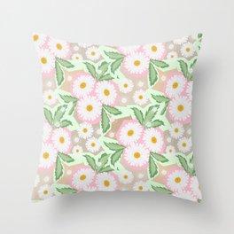Chamomiles. Pastel'. Throw Pillow