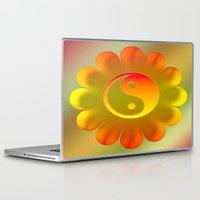 yin yang Laptop & iPad Skins featuring Yin Yang by Art-Motiva