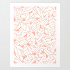 Leaves in Creamsicle Art Print
