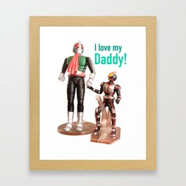 Kamen Rider Father and Son Framed Art Print