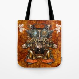 Cacotopia Steampunk Kitty - brass Tote Bag
