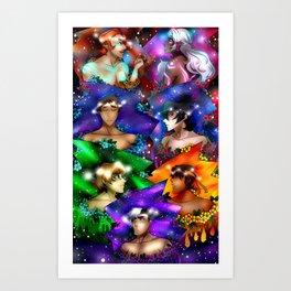 Voltron Flower Galaxy Art Print