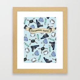 FitzSimmons Biatch Pattern Framed Art Print