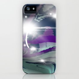 Rainbow Fluorite Crystal Ball iPhone Case