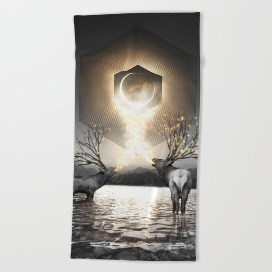 Moon Dust In Your Lungs Beach Towel