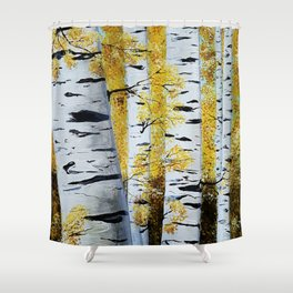 Birch Grove, acrylic painting, inspired by Belarus Shower Curtain