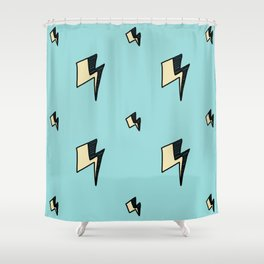Hallo Spaceboy in Hunky Dory Shower Curtain
