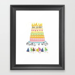 Happy Birthday to you! Framed Art Print