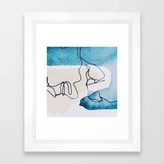 Profile in Blue Framed Art Print