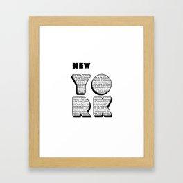 New York in writing Framed Art Print