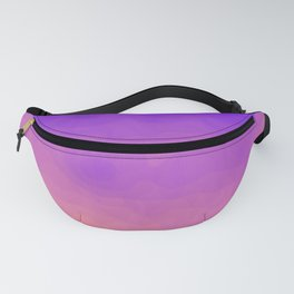 Pink and Purple Ombre - Swirly - Flipped Fanny Pack