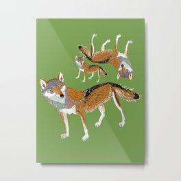 Totem Eastern Wolf (lycaon) Metal Print