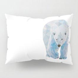 Geometric Polar Bear Pillow Sham