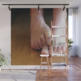 Mans feet (large) Wall Mural