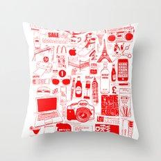 Graphics Design student poster Throw Pillow