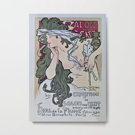 March April 1896 20th Salon des 100 Art Expo Paris France Metal Print