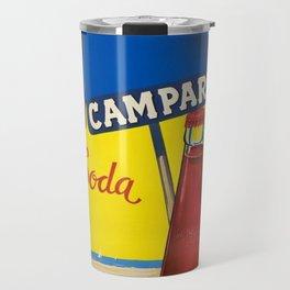 Vintage 1950 Campari Bitters Aperitif Lugano Advertisement by Traub Travel Mug