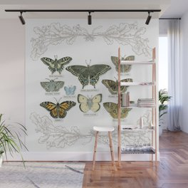 Butterflies and Branches Wall Mural