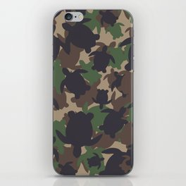 Turtle Camouflage Green iPhone Skin