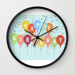 Colorful Birthday card Wall Clock
