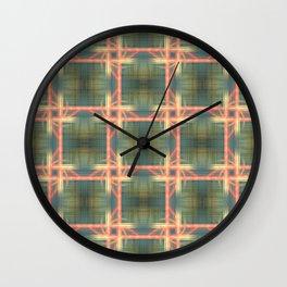 Weaving Pattern Wall Clock