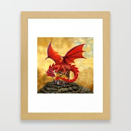 Red Dragon's Treasure Chest Framed Art Print