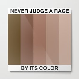 Never Judge A Race By Its Color Metal Print
