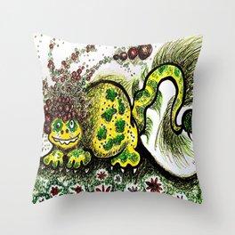 Afrosaurus Throw Pillow