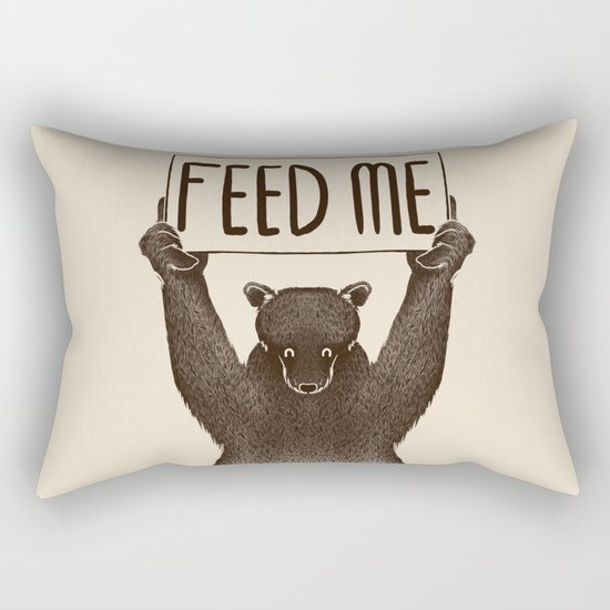 Feed Me Bear Rectangular Pillow