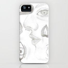 Labios y ojos. iPhone Case