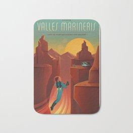Vintage SpaceX Valles Marineris Mars Travel Bath Mat